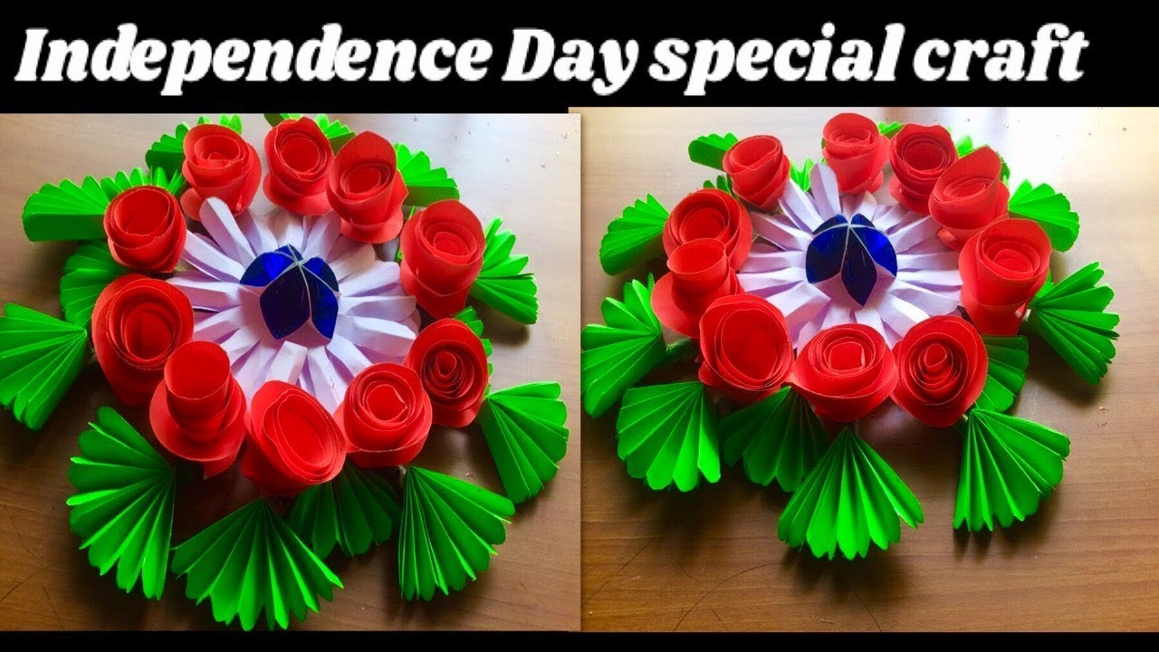 Independence day special origami flowers wall hanging15 august independence day special origami flowers wall hanging15 august decoration ideasorigami things 2018 mightylinksfo