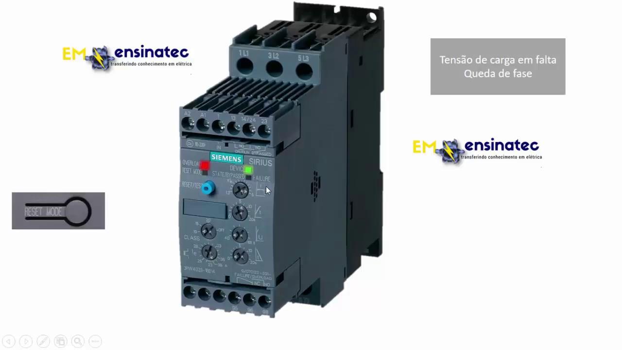 Aula Sobre Soft Start Siemens- Sirius Soft3rw40-funcionalidades