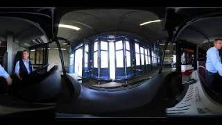 Mega Obus - Erste Schulungsfahrt 360 Grad Video 4K Salzburg AG TV
