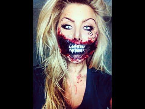 zombie alice in wonderland halloween makeup tutorial ...