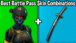 10 BEST 'BATTLE PASS' SKIN COMBINATIONS in Fortnite! (best skin combos)