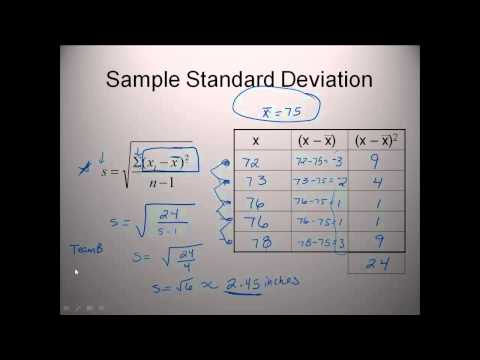 Elementary Statistics Lesson 1 Math tutorial, How to find Variation