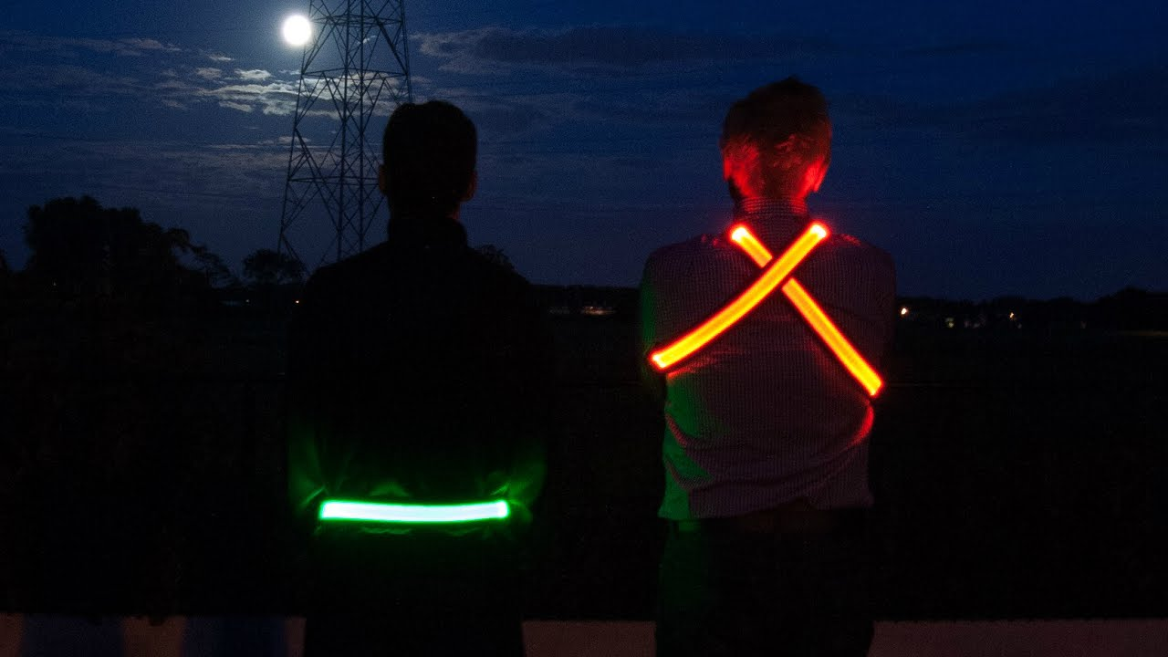 LED Reflective Belt High Visibility Gear for Running USB Rechargeable