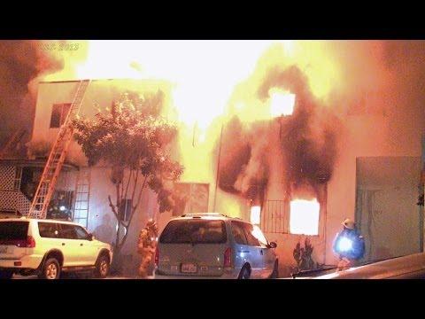 LAFD / Double Fatality Apartment House Fire / Echo Park