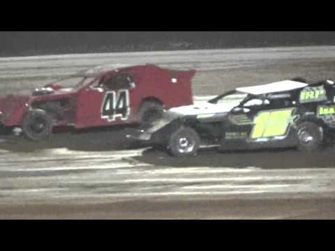 Ark La Tex Speedway Limited modified heat part 2 fan night 4/23/16