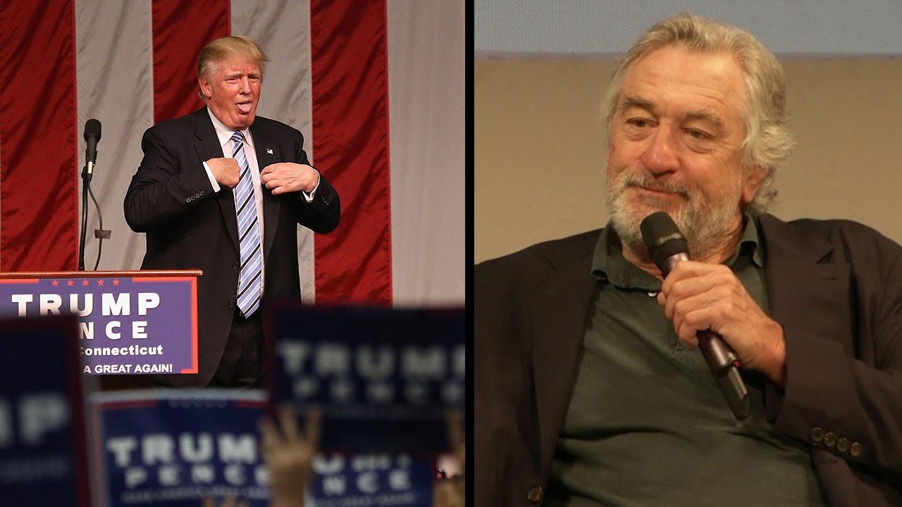 """Robert de Niro calls Donald Trump """"totally nuts"""" - YouTube"""