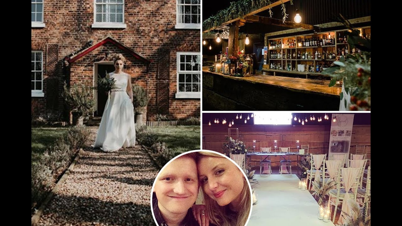 Inside Coronation Street's Sam Aston's farm wedding venue with barn reception and country chic decor