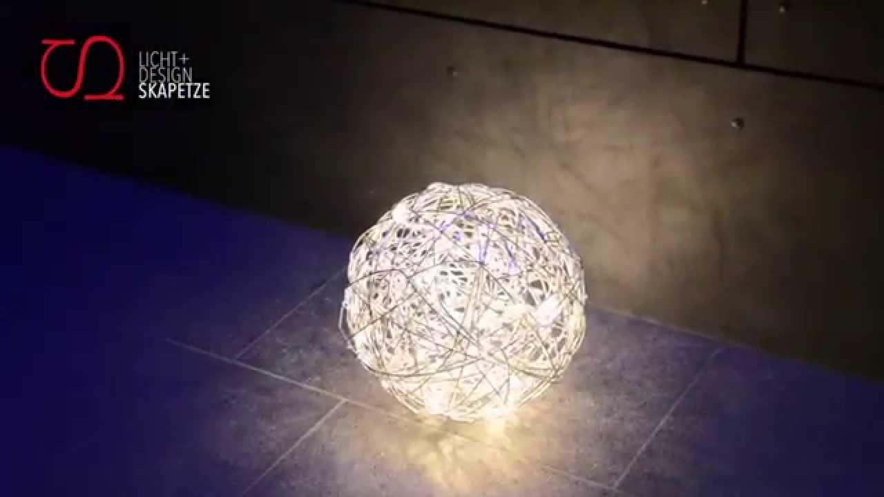 s`luce Mesh LED // Drahtkugel für Innen & Aussen - YouTube
