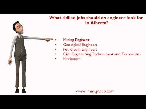 What skilled jobs should an engineer look for in Alberta?