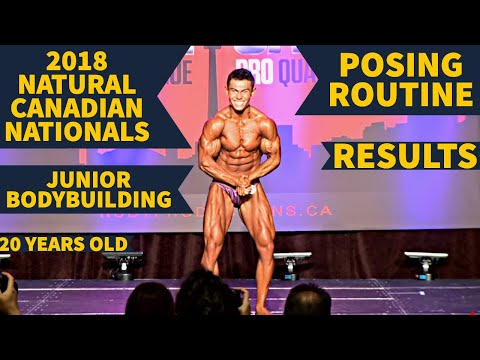 NATURAL JUNIOR BODYBUILDING ROUTINE|2018 CANADIAN NATIONALS|RESULTS