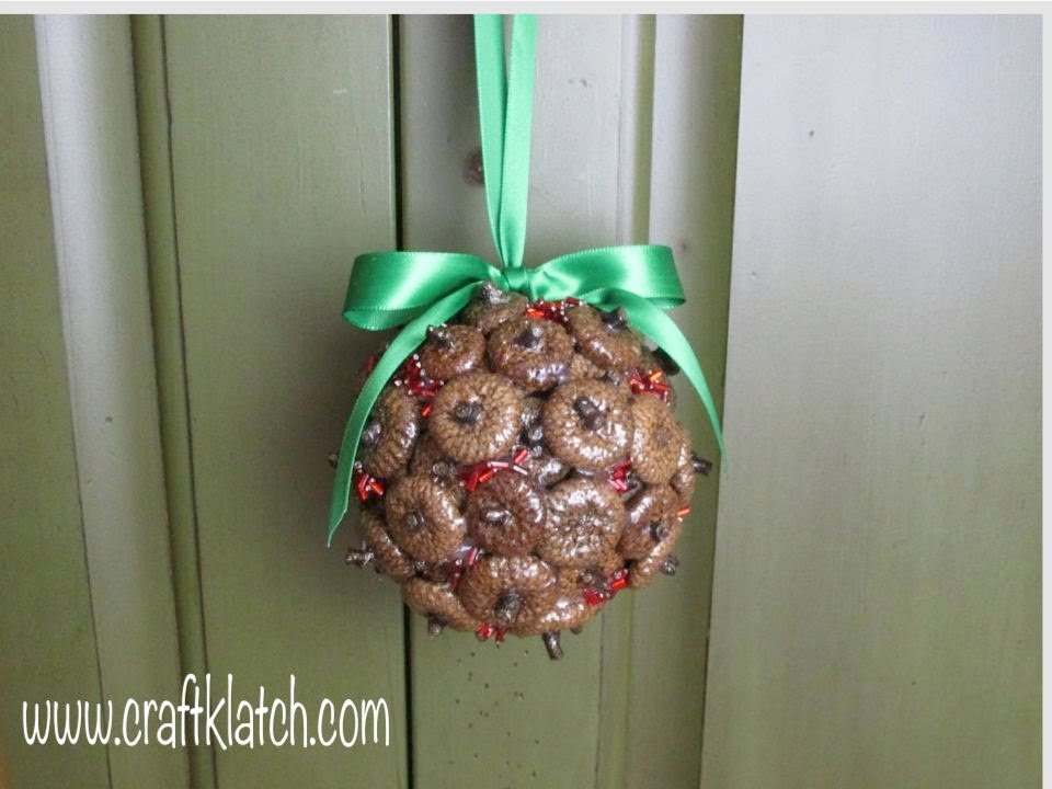 Acorn Cap Christmas Ornament Crafting With Nature   YouTube