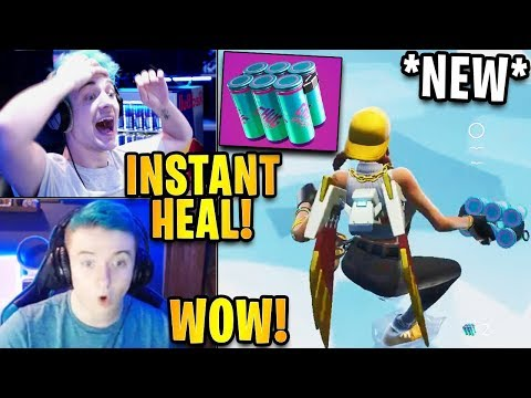 Streamers First Time Using *NEW* Chug Splash Heal Item! | Fortnite Highlights & Funny Moments