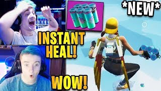 Streamers First Time Using *NEW* Chug Splash Heal Item!   Fortnite Highlights & Funny Moments