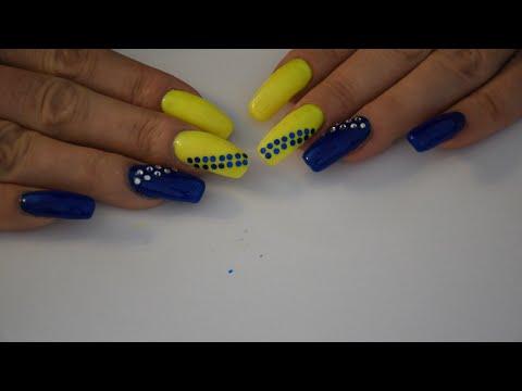 1ef34a9766fe08 Neonowe Wiosenne Paznokcie (Niebiesko-Zielone) - YouTube