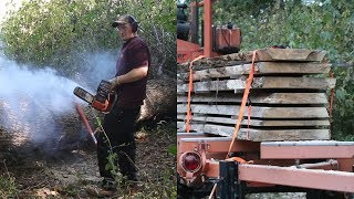 Salvaging the Forest - Adventures in Ash Slabs! Smoking Hot Wood Slabs!
