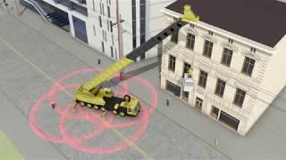Crane Accident with men