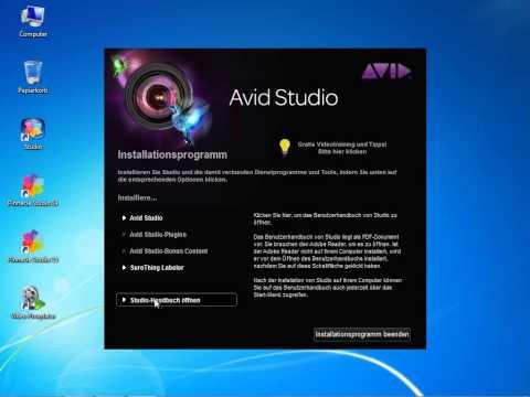 Installation  von Avid studio