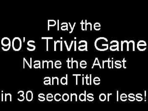 90's Music Trivia Game - Name Artist / Title - Version Two!