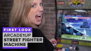 Arcade1Up Street Fighter build-it-yourself machine first look
