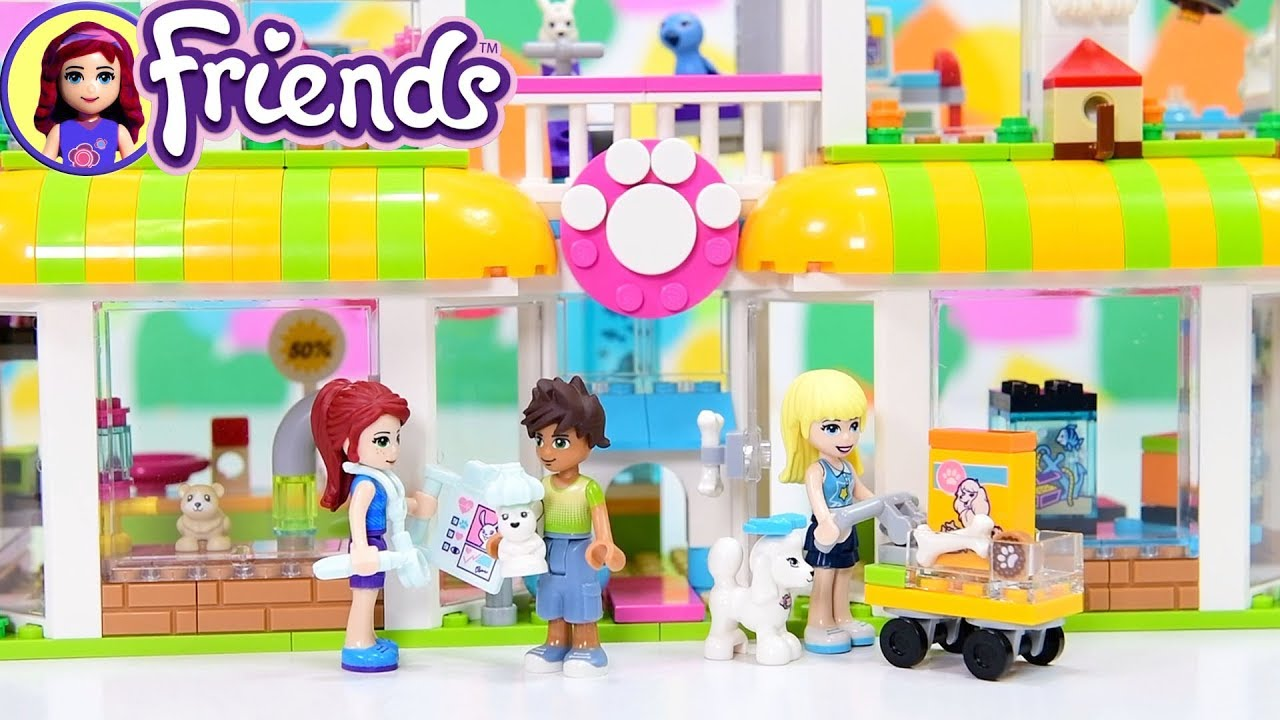 Lego Friends Heartlake Pet Center Shop Build Silly Play Youtube