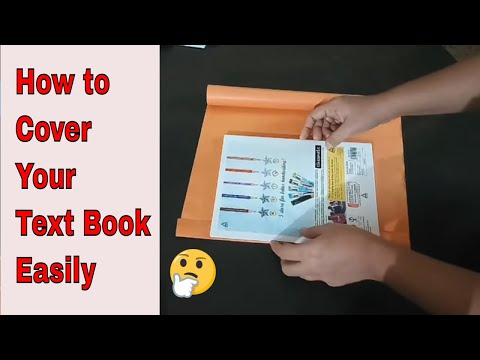 How to cover school books |notebook | how to cover school books with brown paper