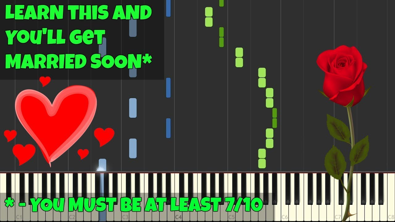 mariage d amour george davidson piano tutorial synthesia piano