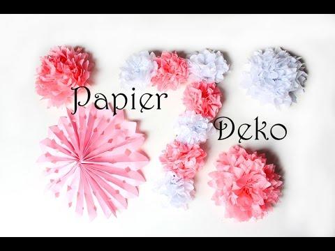 DIY Papierdeko  Deko aus Papier einfach selber machen