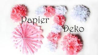 DIY Papierdeko | Deko aus Papier einfach selber machen | Mädchen Geburtstag | Hochzeit | MamaKreativ