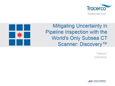 WEBCAST: Mitigating Uncertainty in Pipeline Inspection with the World's Only Subsea CT Scanner
