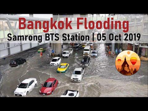 Bangkok Flooding | Samrong BTS Station | Sukhumvit Road | 05 Oct 2019