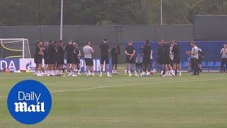 England players train ahead of Tunisia game in Volgograd