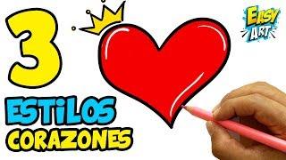 3 Dibujos de Corazones  Super Facil  para san valentin │How to Draw a Heart