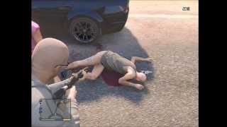 GTA V - Naked Old Man Rapes and Kidnaps Young Girl | Altruist Cult - Random Encounter