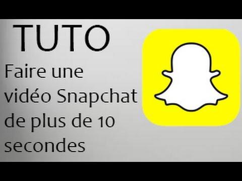 Snapchat : Faire une vidéo de plus de 10 secondes thumbnail
