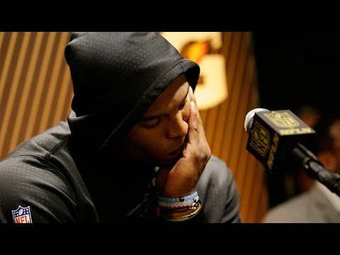 Cam Newton Walks Off During Super Bowl 50 Postgame Presser | NFL