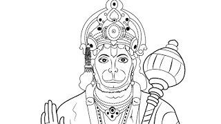 How to make hanuman ji drawing
