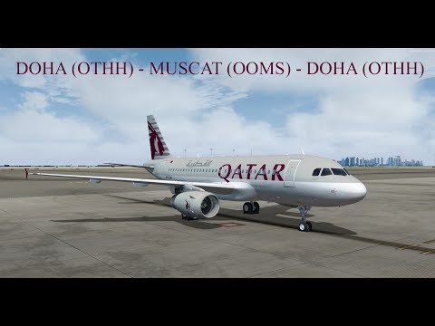 P3D v4 3 | FSLABS A319-X | IVAO | Qatar Airways Real OPS! GSX LEVEL 2  EXPANSION😍