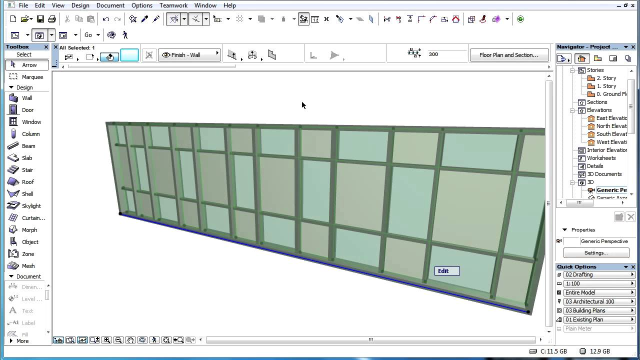 Overriding Surface Settings Of Archicad Curtain Wall