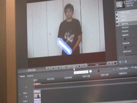 how to add lightsaber effects to a video