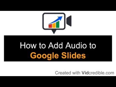 Add Audio to Google Slides Adding Music and Narration to Google Slides Presentation