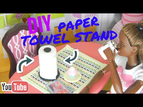 DIY Barbie Doll Paper Towel Stand-Crafting Queen