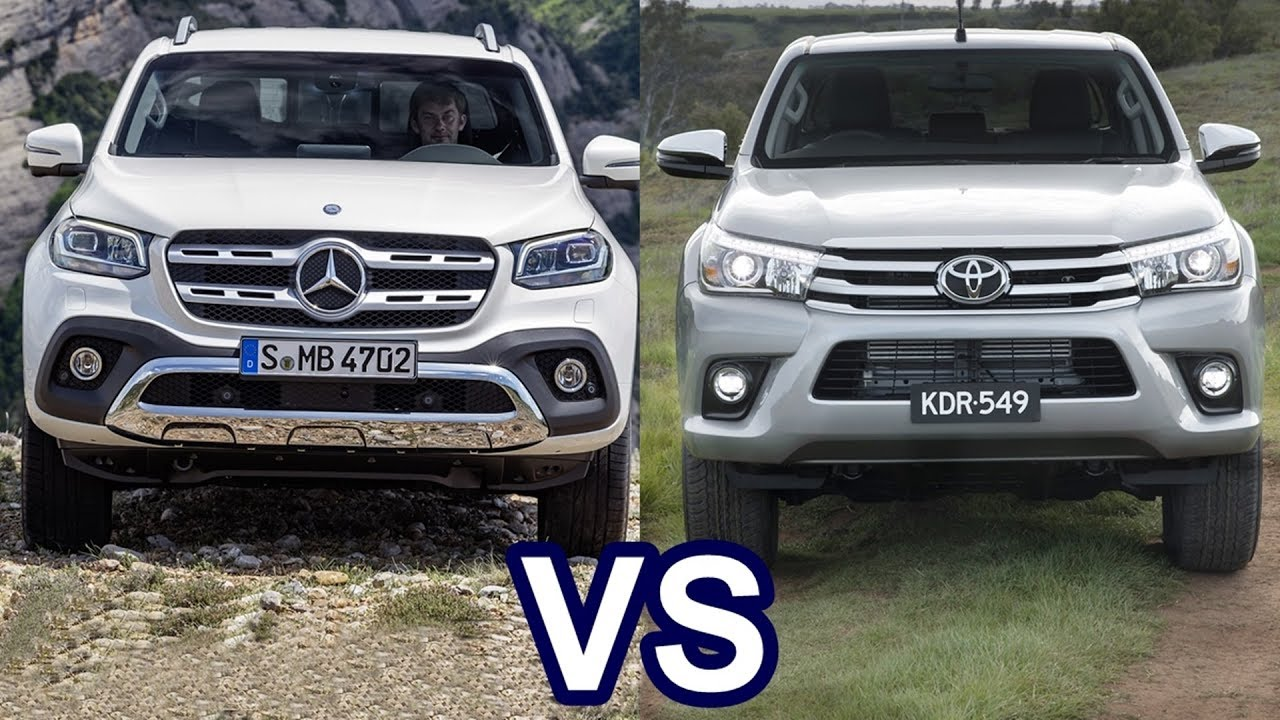 2018 mercedes x class vs 2018 toyota hilux youtube. Black Bedroom Furniture Sets. Home Design Ideas