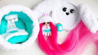 furry house for lol surprise doll with the longest hair lolsurprise doll video for children
