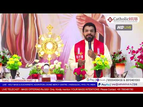 HOLY MASS | CONFESSION Part - 2 | REV.FR.BENNY SVD | DMC | HABSIGUDA | HYD | TS | 08-05-2020