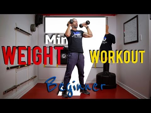 7 Minute Ultimate FULL-BODY DUMBBELL Workout   Beginners