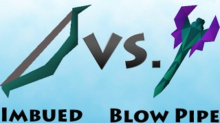 Blowpipe VS MSB Imbued Range Test Old School Runescape