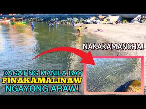 PINAKAMALINAW NA DAGAT NG MANILA BAY NATUNGHAYAN NGAYONG ARAW! -  (2020)