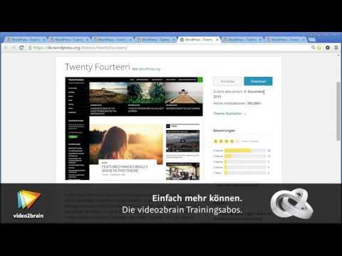 WordPress-Theme für Einsteiger – Twenty Sixteen Tutorial: Standard-Themes |video2brain.com
