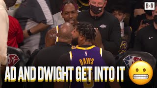 Фото Anthony Davis And Dwight Howard Get In A Scuffle During The Lakers-Suns Game