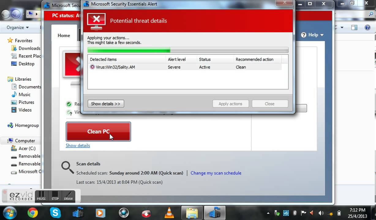 How To Scan Virus On Windows 7